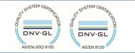 2015 The company is certified by the DNV
